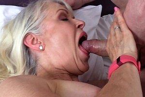 Sloppy old Grandma Chick Sextasy Smallish Paramour Thick Cock in Pantyhose! Molten GILF
