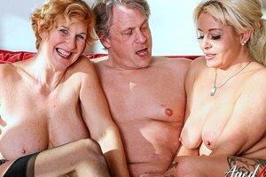 AGEDLOVE 2 Blond Girls Have Firm Trio Sex